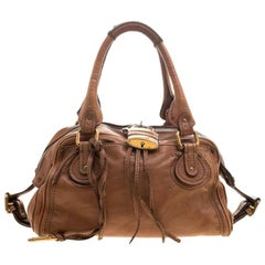 Chloe Brown Leather Medium Paddington Satchel