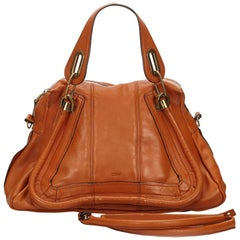 Chloe Brown Leather Paraty Satchel