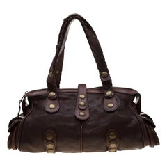 Chloe Brown Leather Silverado Satchel