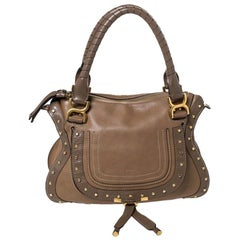 Chloe Brown Leather Small Marcie Hobo