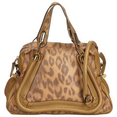 Chloe Brown Leopard-Printed Leather Paraty