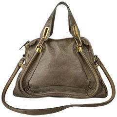 Chloé Brown Medium Paraty Satchel Bag