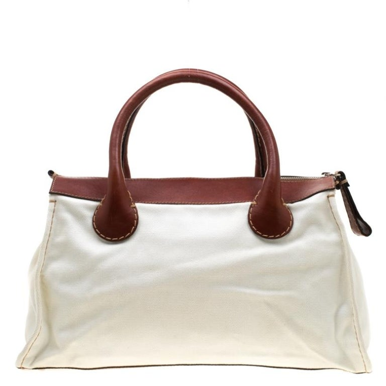 Made from canvas and leather, this bag is both durable and stylish. The inside of the bag has a canvas lining and enough space. A Chloe bag should absolutely be a part of your dresser if you are someone with an eye for up-to-the-minute