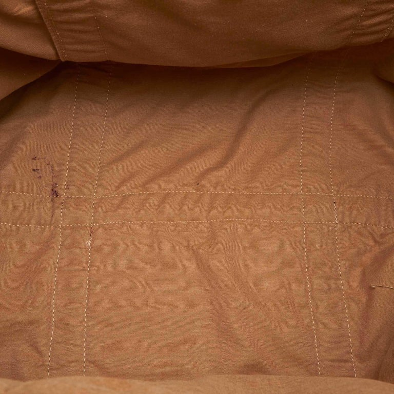 Chloe Brown Rayon Tote Bag For Sale 1