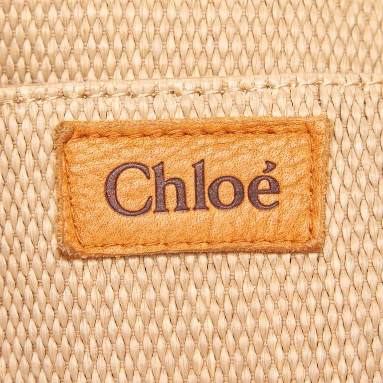 Chloe Brown Rayon Tote Bag For Sale 3