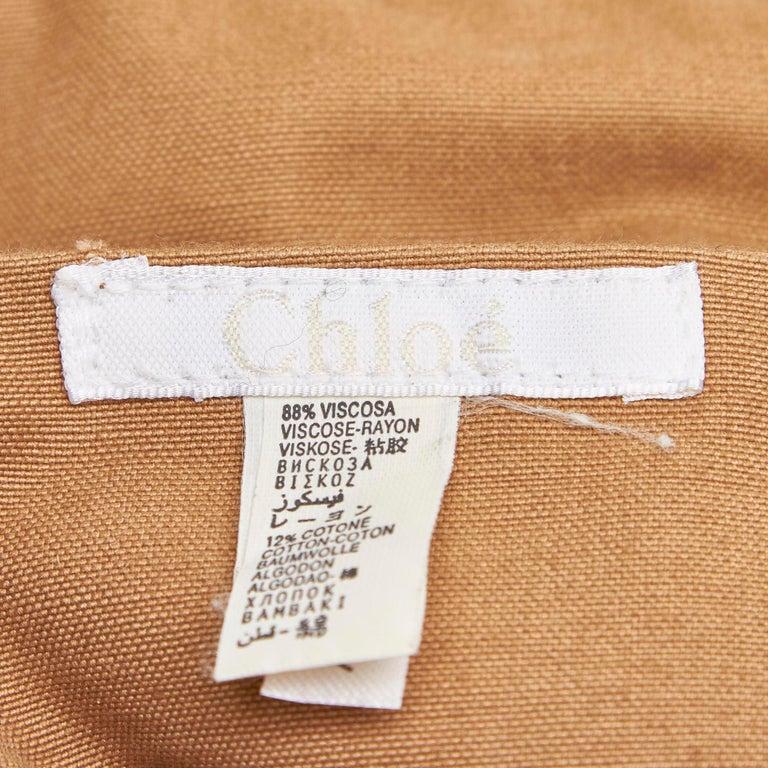 Chloe Brown Rayon Tote Bag For Sale 4