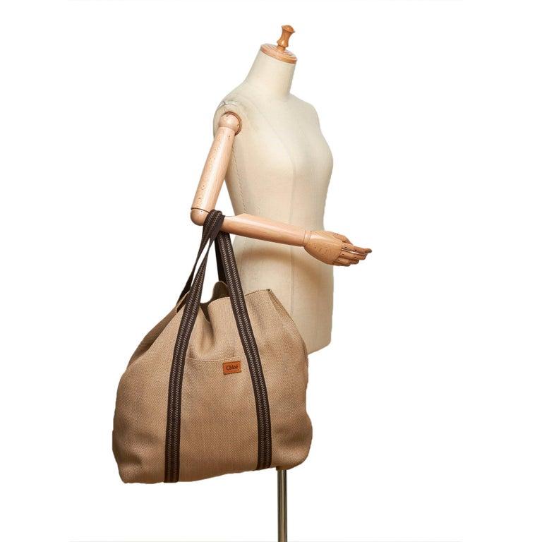Chloe Brown Rayon Tote Bag For Sale 5