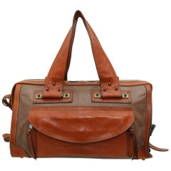 Chloe Brown & Tan Leather Tracy Bag