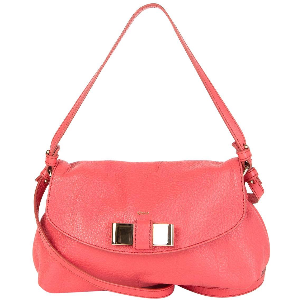 CHLOE bubblegum pink leather LILY Crossbody Shoulder Bag