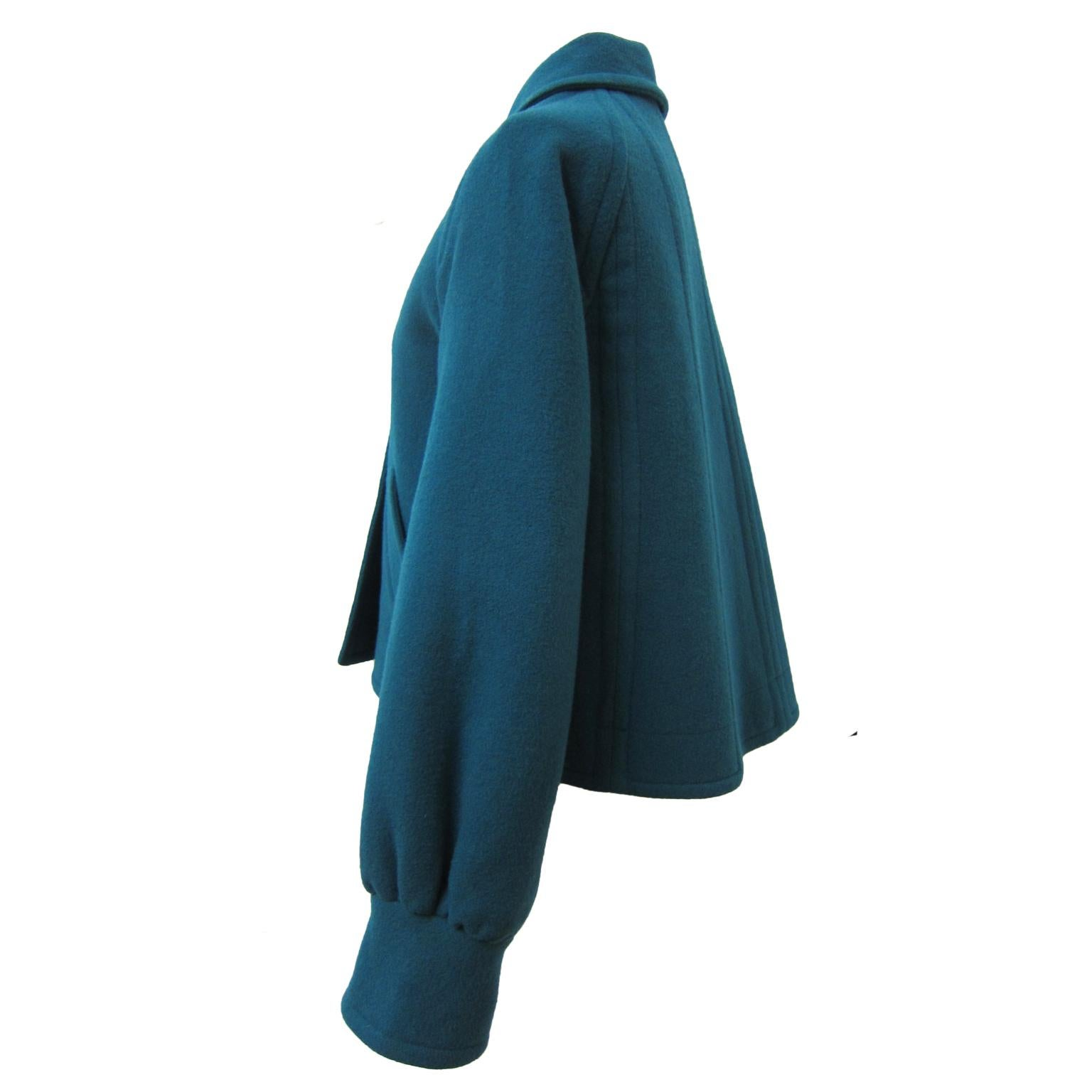 Chloe by Karl Lagerfeld Blue Green Jacket circa 1980s