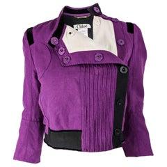 Chloe by Pheobe Philo Purple Linen Crop Jacket, 2005