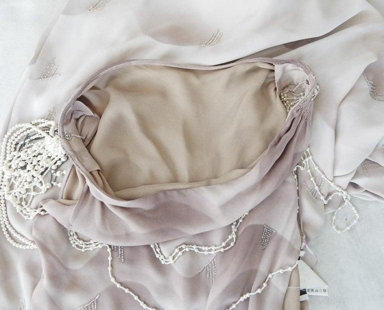 Chloe by Stella McCartney Vintage Runway Ombre Silk Dress w/ Pearl Necklace For Sale 2