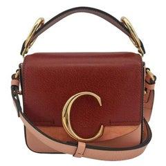 CHLOÉ C bag Shoulder bag in Red Leather