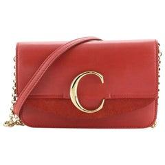 Chloe C Chain Clutch Leather
