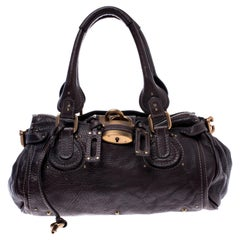 Chloe Chocolate Brown Leather Medium Paddington Satchel