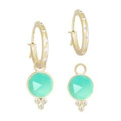 Chloe Chrysoprase 18 Karat Gold Earrings