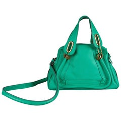 Chloe Coral Green Leather Small Paraty Shoulder Bag