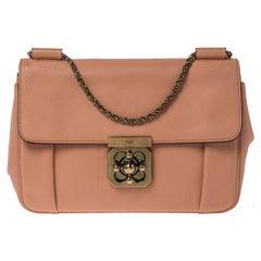 Chloe Coral Leather Medium Elsie Shoulder Bag