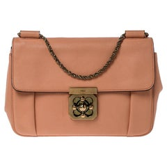 Chloe Coral Leather Medium Elsie Shoulder Bag