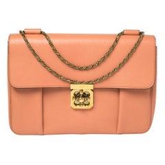 Chloe Coral Orange Leather Large Elsie Shoulder Bag