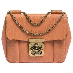 Chloe Coral Orange Leather Small Elsie Shoulder Bag