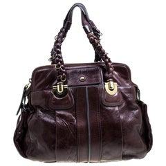 Chloe Dark Brown Leather Heloise Bag