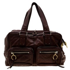 Chloe Dark Brown Leather Large Betty Satchel