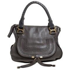 Chloe Dark Brown Leather Medium Marcie Shoulder Bag
