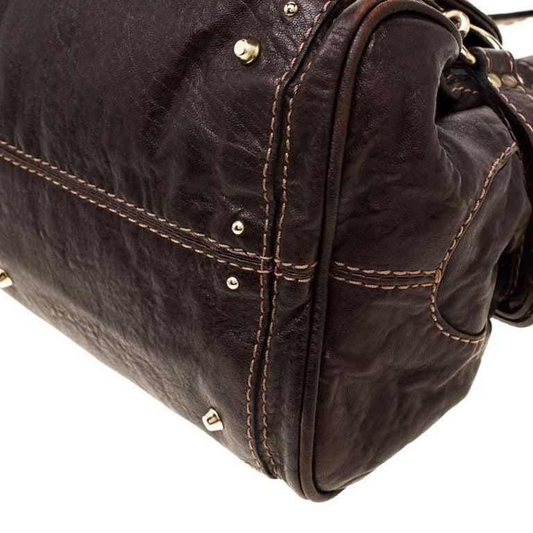 Chloe Dark Brown Leather Paddington Capsule Satchel For Sale 5