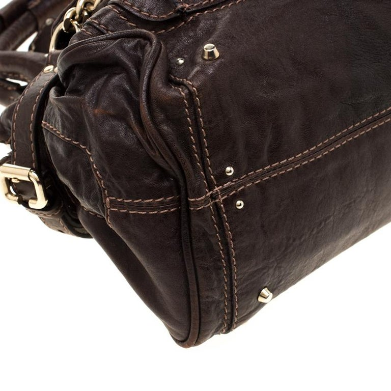 Chloe Dark Brown Leather Paddington Capsule Satchel For Sale 6
