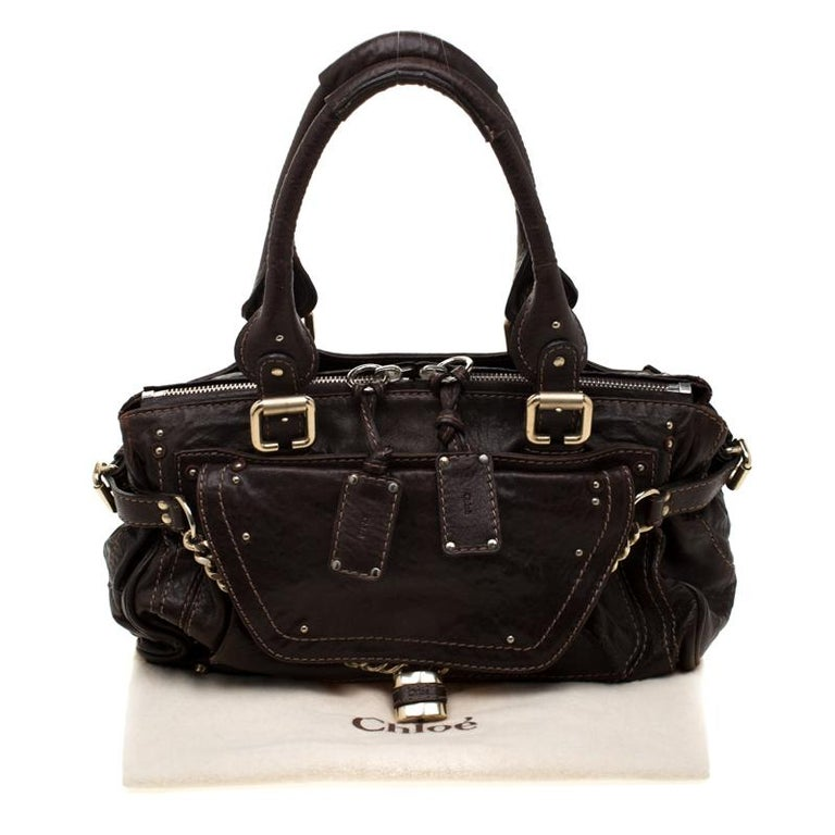 Chloe Dark Brown Leather Paddington Capsule Satchel For Sale 7