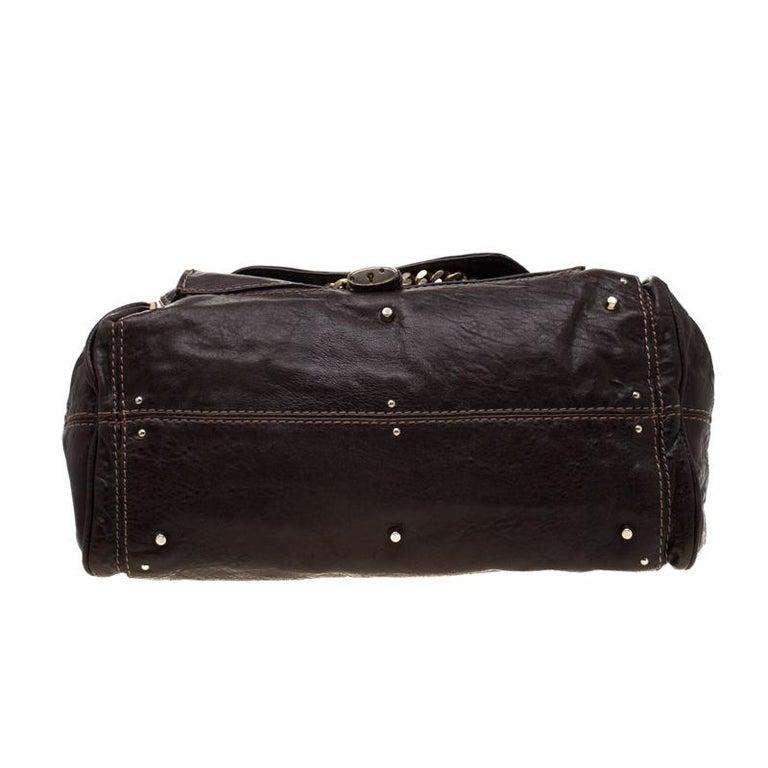 Women's Chloe Dark Brown Leather Paddington Capsule Satchel For Sale