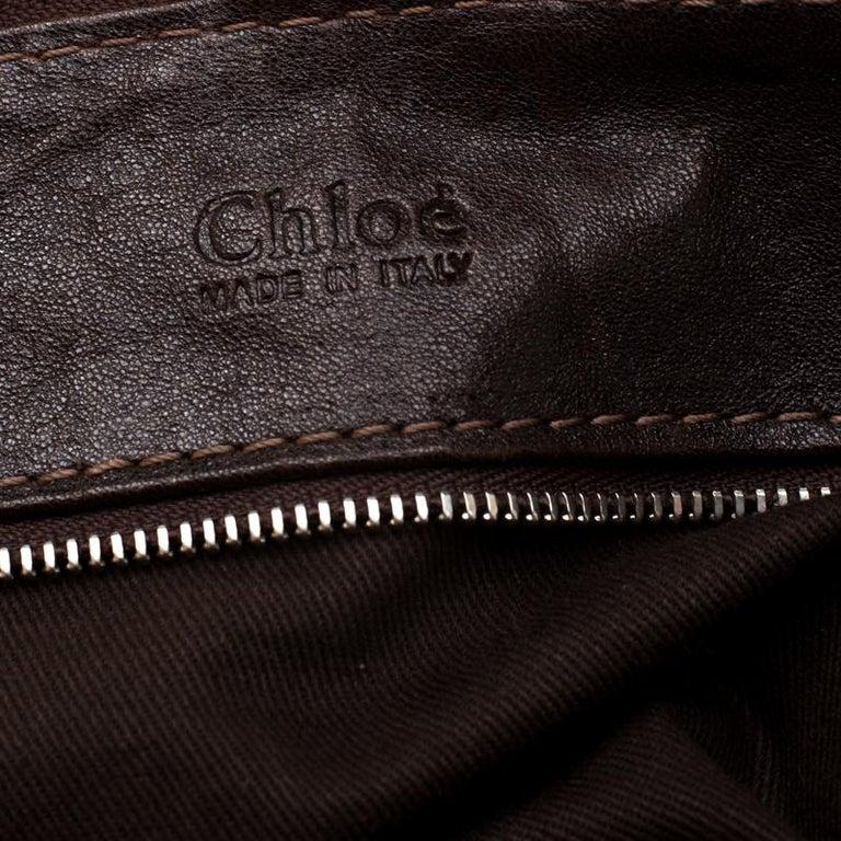 Chloe Dark Brown Leather Paddington Capsule Satchel For Sale 2