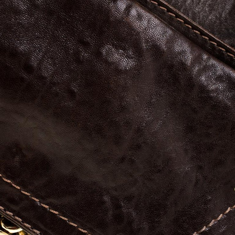 Chloe Dark Brown Leather Paddington Capsule Satchel For Sale 4