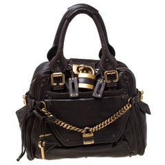 Chloe Dark Brown Leather Paddington Capsule Satchel