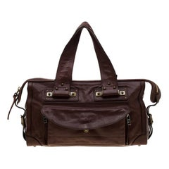 Chloe Dark Brown Leather Tracey Satchel