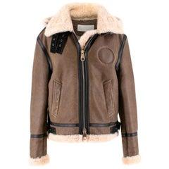 Chloe detachable-hood brown shearling jacket - New Season - SIZE 0/2