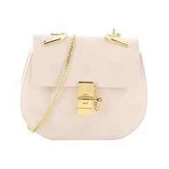 Chloe Drew Crossbody Bag Embossed Leather Mini
