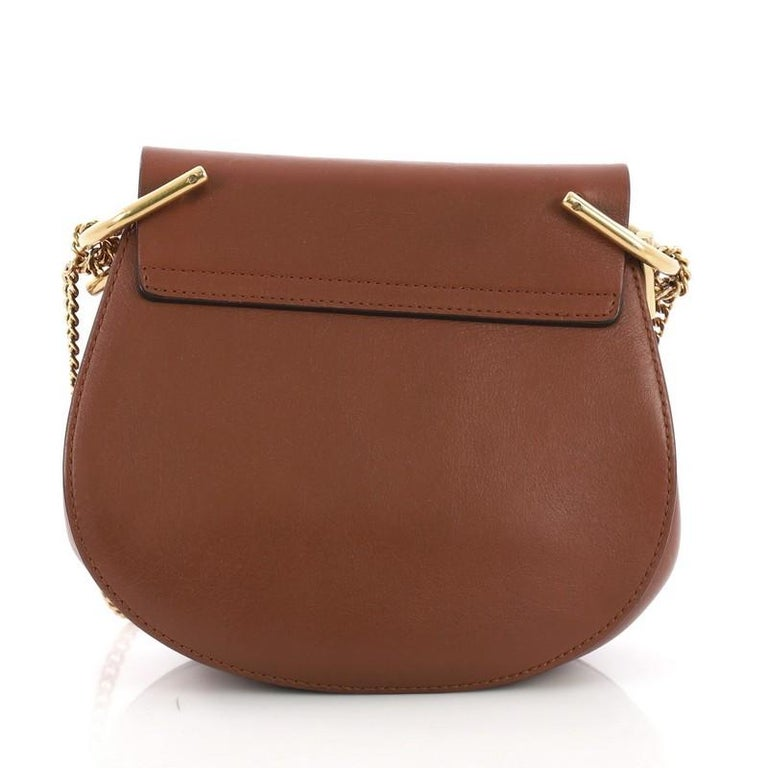 Chloe Drew Crossbody Bag Leather and Suede Mini In Good Condition In New York, NY