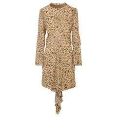 Chloé Embellished Ruffled Floral-Print Georgette Mini Dress