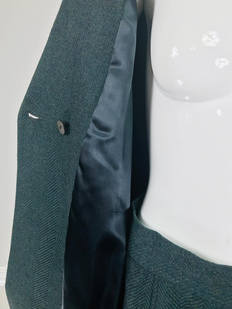 Chloe embroidered teal wool swing jacket and skirt from the 1980s For Sale 6
