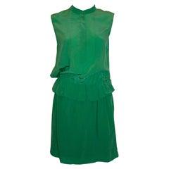 Chloe Emerald Green Silk Dress