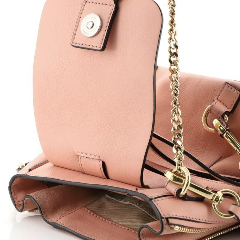 Chloe Faye Backpack Leather And Suede Mini For Sale 6