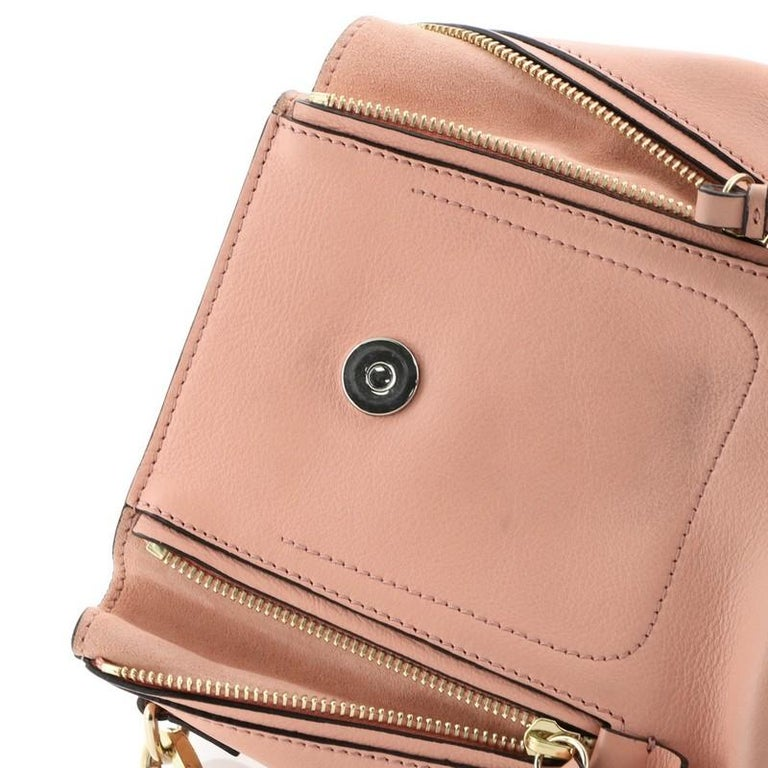 Chloe Faye Backpack Leather And Suede Mini For Sale 2