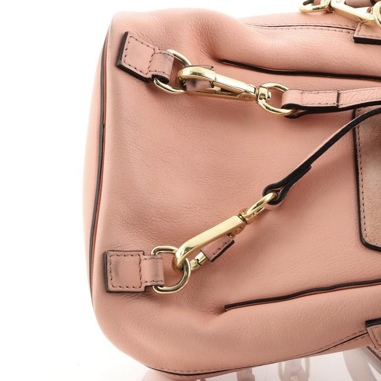 Chloe Faye Backpack Leather And Suede Mini For Sale 3