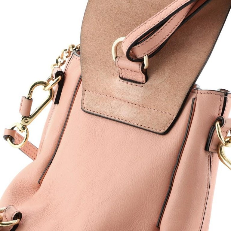 Chloe Faye Backpack Leather And Suede Mini For Sale 4