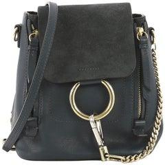 Chloe Faye Backpack Leather and Suede Mini