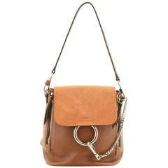 Chloe Faye Backpack Leather and Suede Small