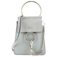 Chloe Faye Bracelet Crossbody Bag Leather and Suede Mini