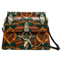 Chloe, Faye in multicolour exotic leather